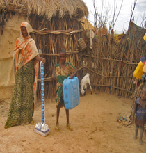 Fatima and daughter with new equipment.