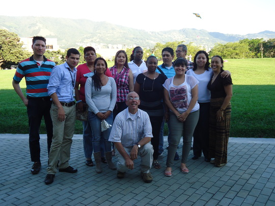 Team of facilitators that received the workshops