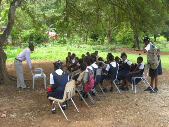 Reading Center for 188 students in Jamaica