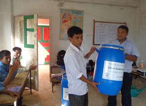 Distribution of Herbal Garden Kit to NC Teacher