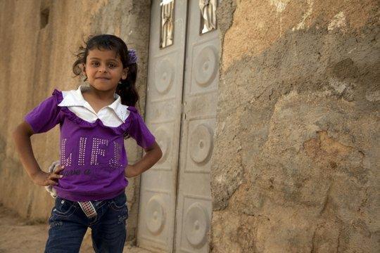 Noor, 7, from Aleppo, Syria.