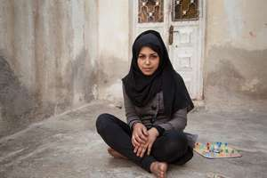 Falak, 15, from Homs, Syria.