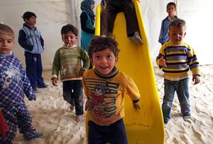 Refugee children at play