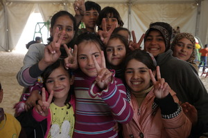 Syrian refugee children in Jordan