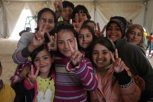 Syrian refugee children in Jordan