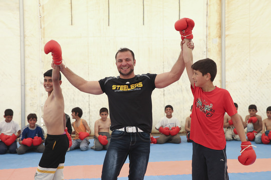 Champion wrestler + volunteer, Mohammed Al Karad