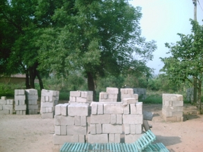 Some cement blocks ready to be used for foundation
