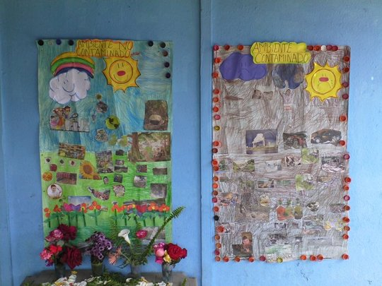 Children's murals in Guatemala