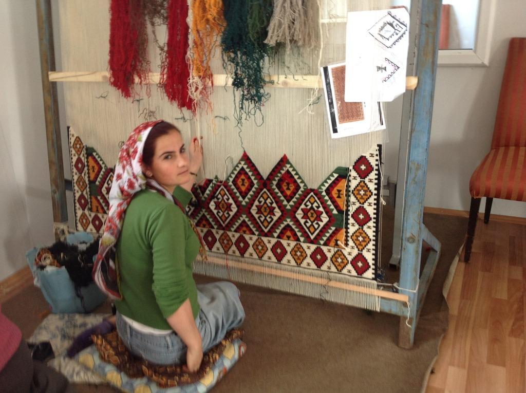 Young Kilim Weavers in Van