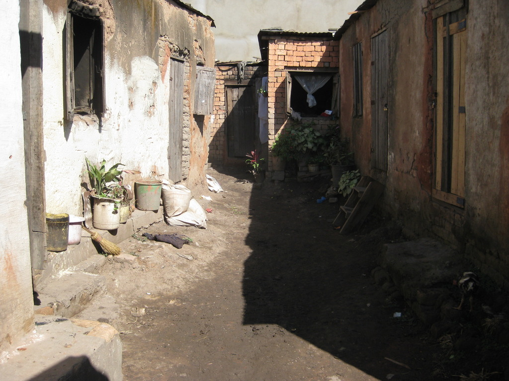 A typical backyard scene in Anosibe