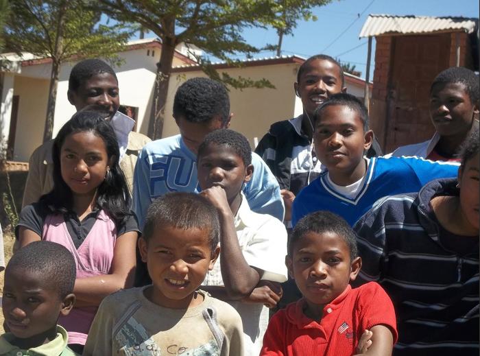 Some of the older kids at Famonjena