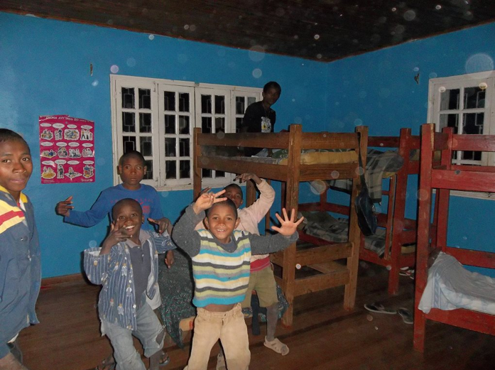 """Children fooling around before """"lights out"""""""