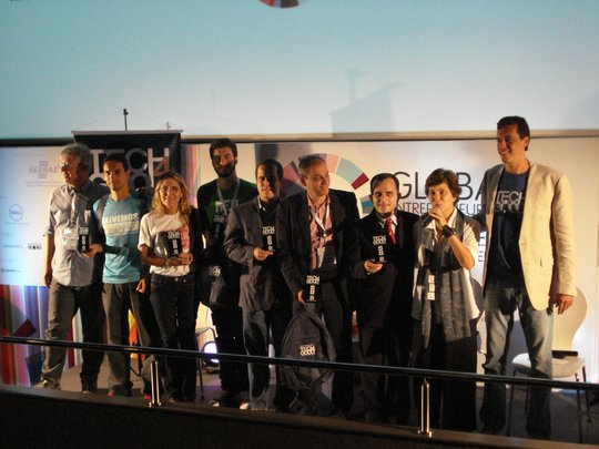 Winners at the Tech4Good Awards