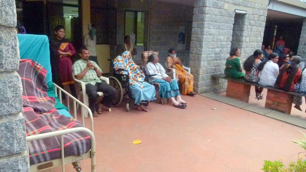Patients watching Diwali entertainment