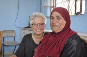 Um Hasan & MECA's financial manager Nancy Ippolito