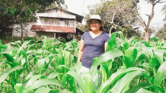 Milagro on her farm.