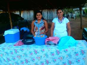Front table of their Fritanga (fast-food stop).