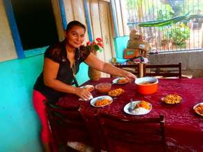 Francisca uses profits to host cooking class/party
