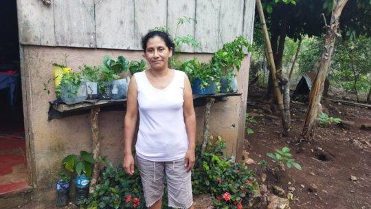 Yessenia and her garden.