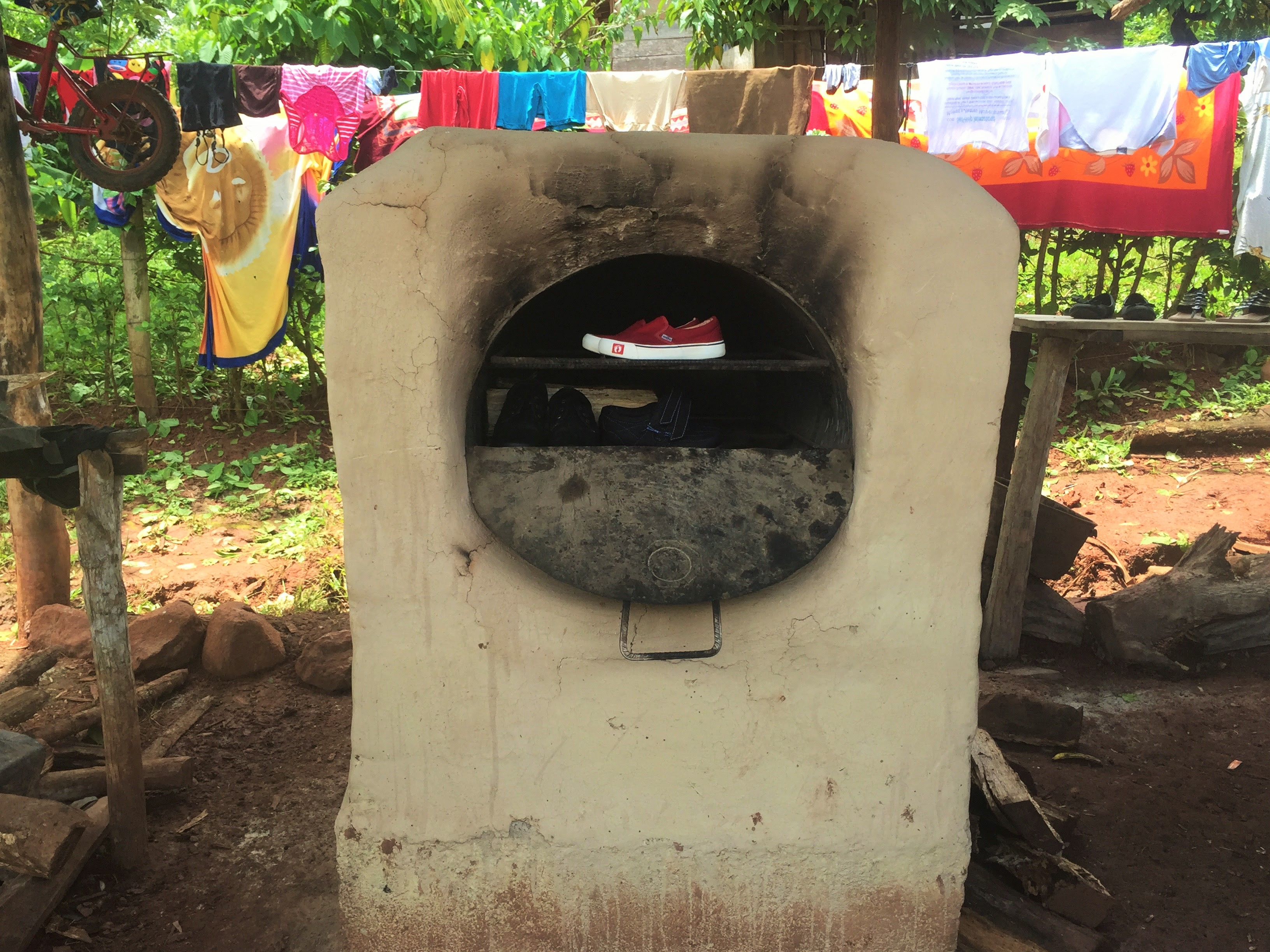 Jering's family oven which is used as a dryer during rainy seasons