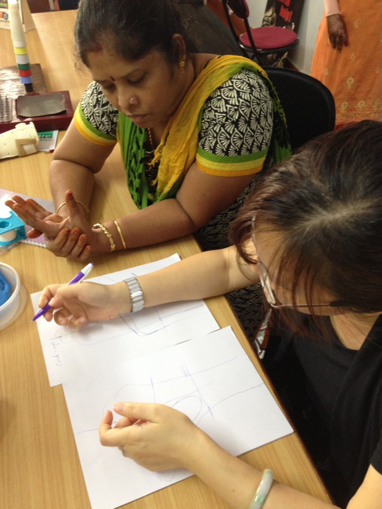 Learning how to draw a splint pattern