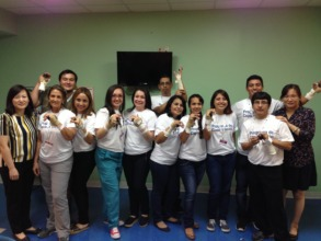 Participants with their splints