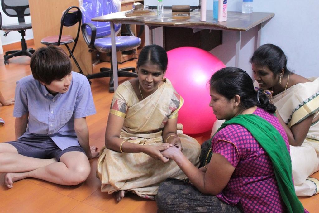 PCVC staff teach scar massage techniques