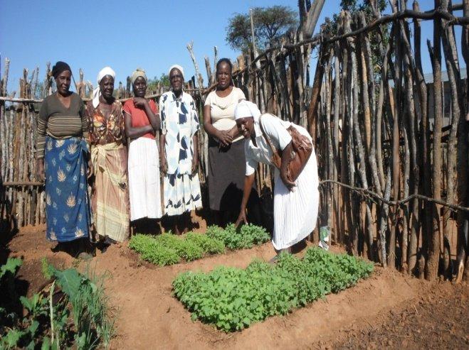 Garden group with Mrs. Muzenda