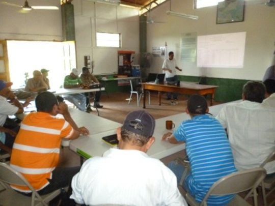 Training and presentations at training center