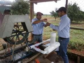 Chlorinator installation at Isla Grande