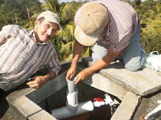 Chlorinator installation in Los Pintos