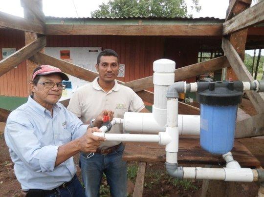 Chlorinator installation at Melchor