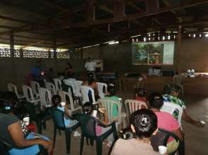 Community assemply in Talolinga