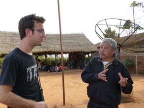 Project Manager Tom Rosen w/ Camp Headman Sai Leng