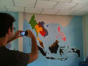 Project Manager Tom Rosen & map of SouthEast Asia