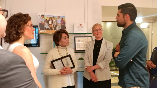 Rep. Eshoo chatted with us after receiving award