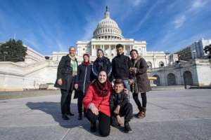 Our team visits Capitol Hill before the briefing!