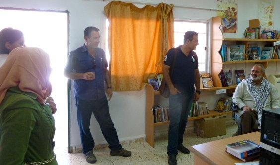 Ata and Fahmi from Wadi Foquin, visiting Al Aqaba