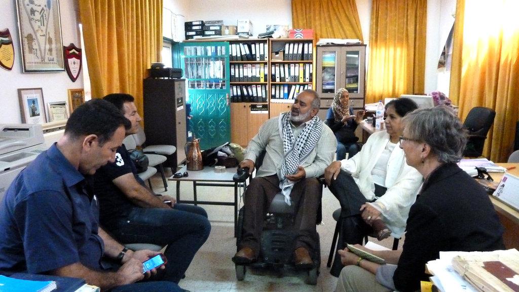 Meeting in Mayor Haj Sami