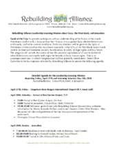 The trip agenda (PDF)