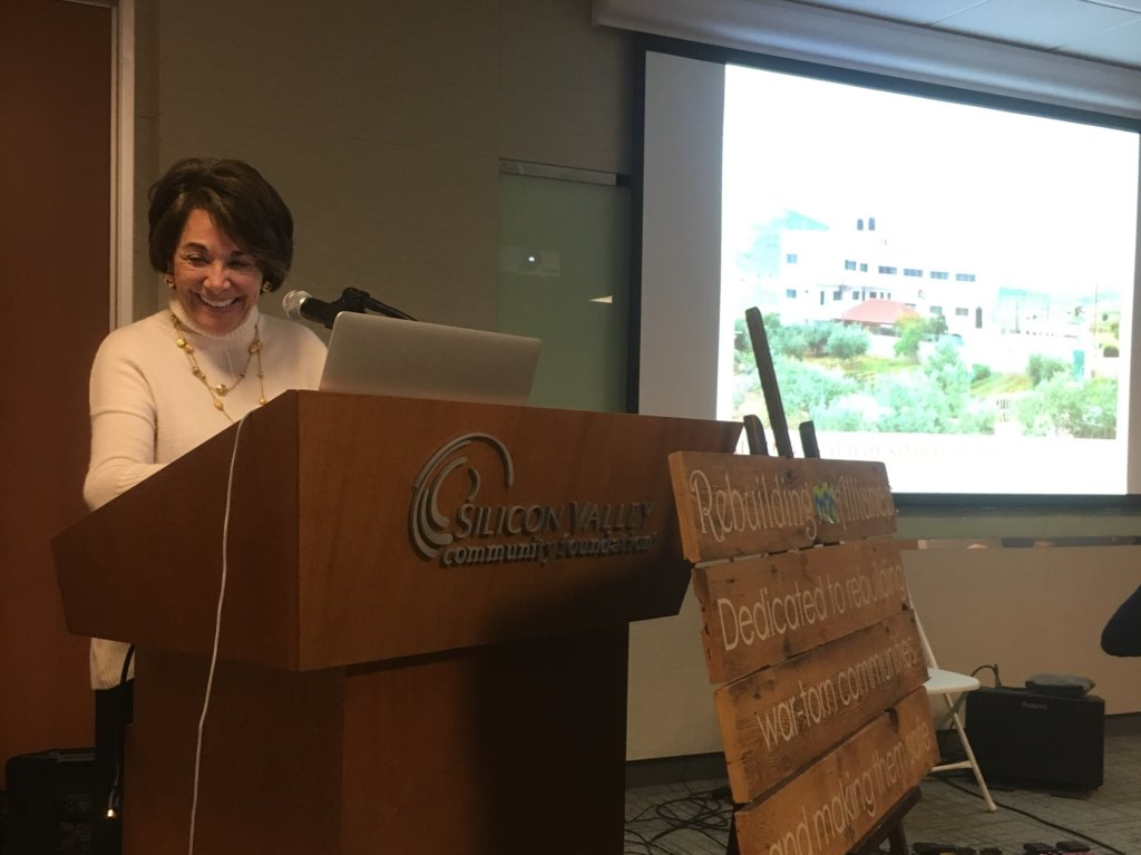 Rep. Eshoo accepts the RA Peacemaker Award