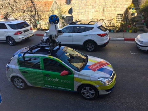 Look! The Google StreetView Car in Ramallah!