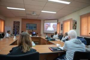 Dr. Yasser of GCMHP speaks via conference call