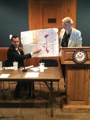 Donna and Dr. El-Atrash speak at a Senate briefing