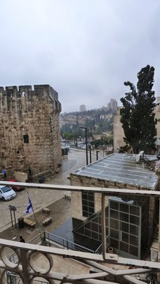 Rain, Hail, Thunder, Lightning in Jerusalem