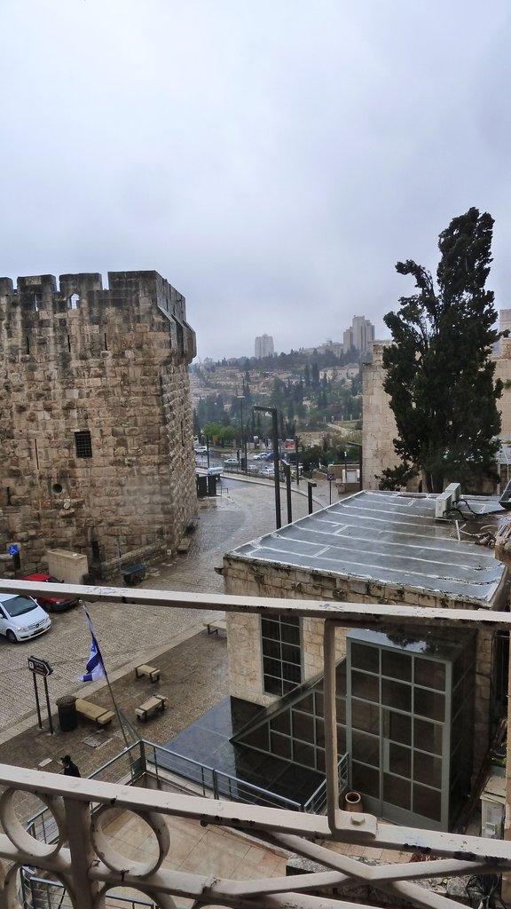 Rain, Hail, Thunder, Lightning in Jerusalem