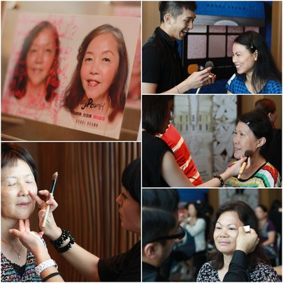 Women learnt make-up skills from artists