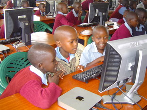 Students from Sofia PS at an instruction class