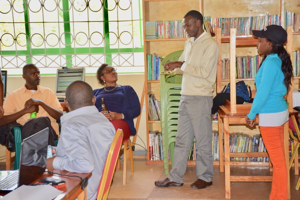 James Meeting with Teachers about Pad Project