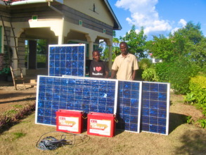 The pannels and batteries for final solar upgrade